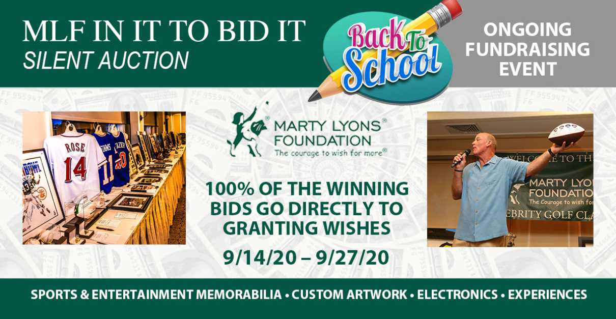 MLF's Back to School Virtual Silent Auction